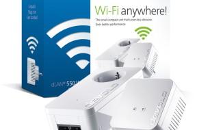 devolo dLAN® 550 WiFi: Der neue WLAN-Powerline-Adapter im kompakten Format mit starker Leistung.