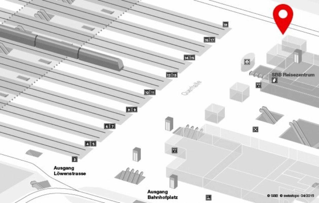 Lageplan Zürich HB