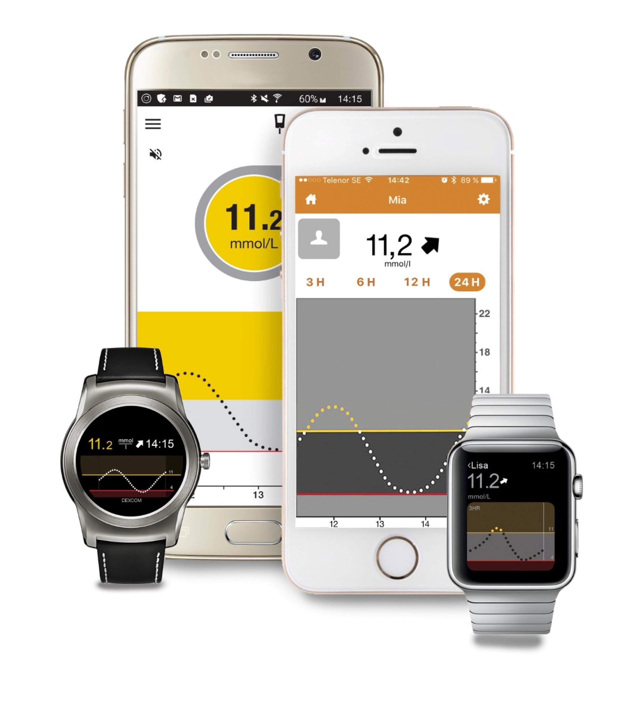 Nun auch kompatibel mit der Apple Watch: Dexcom Glukosemessgerät G5 Mobile