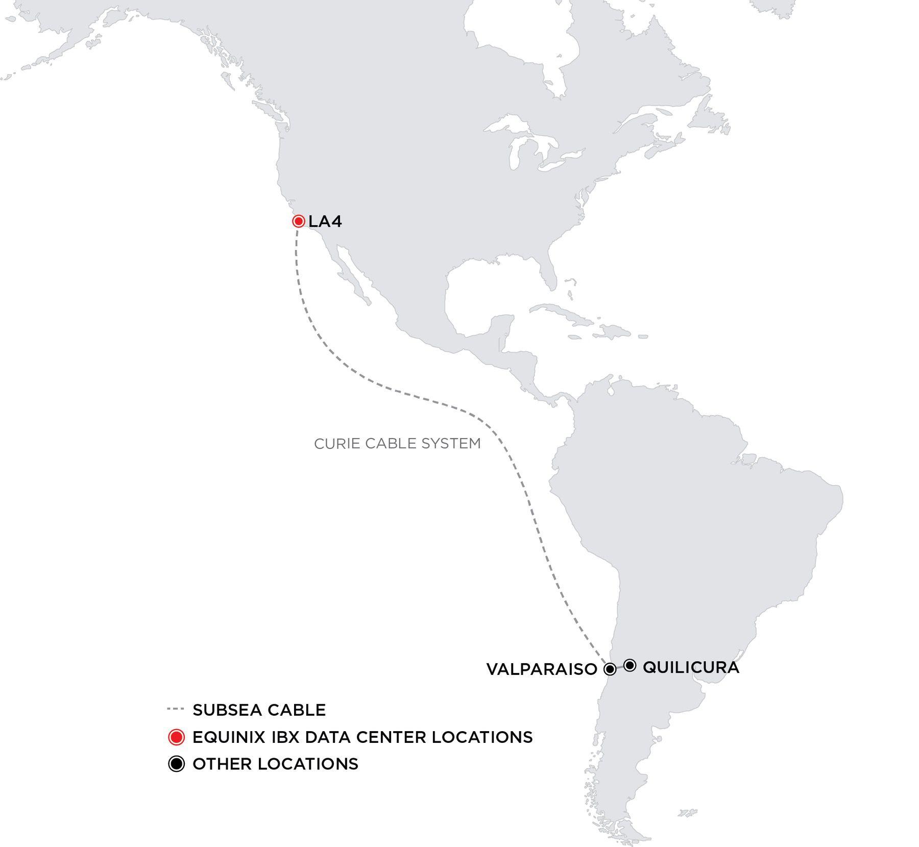 Google wählt Equinix für die Landungsstation des Unterwasserkabels Curie