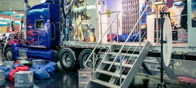 Transformers Optimus Prime Truck on the road again – Tourstart an der Fantasy Basel