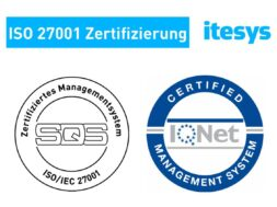 itesys ist ISO 27001 zertifiziert