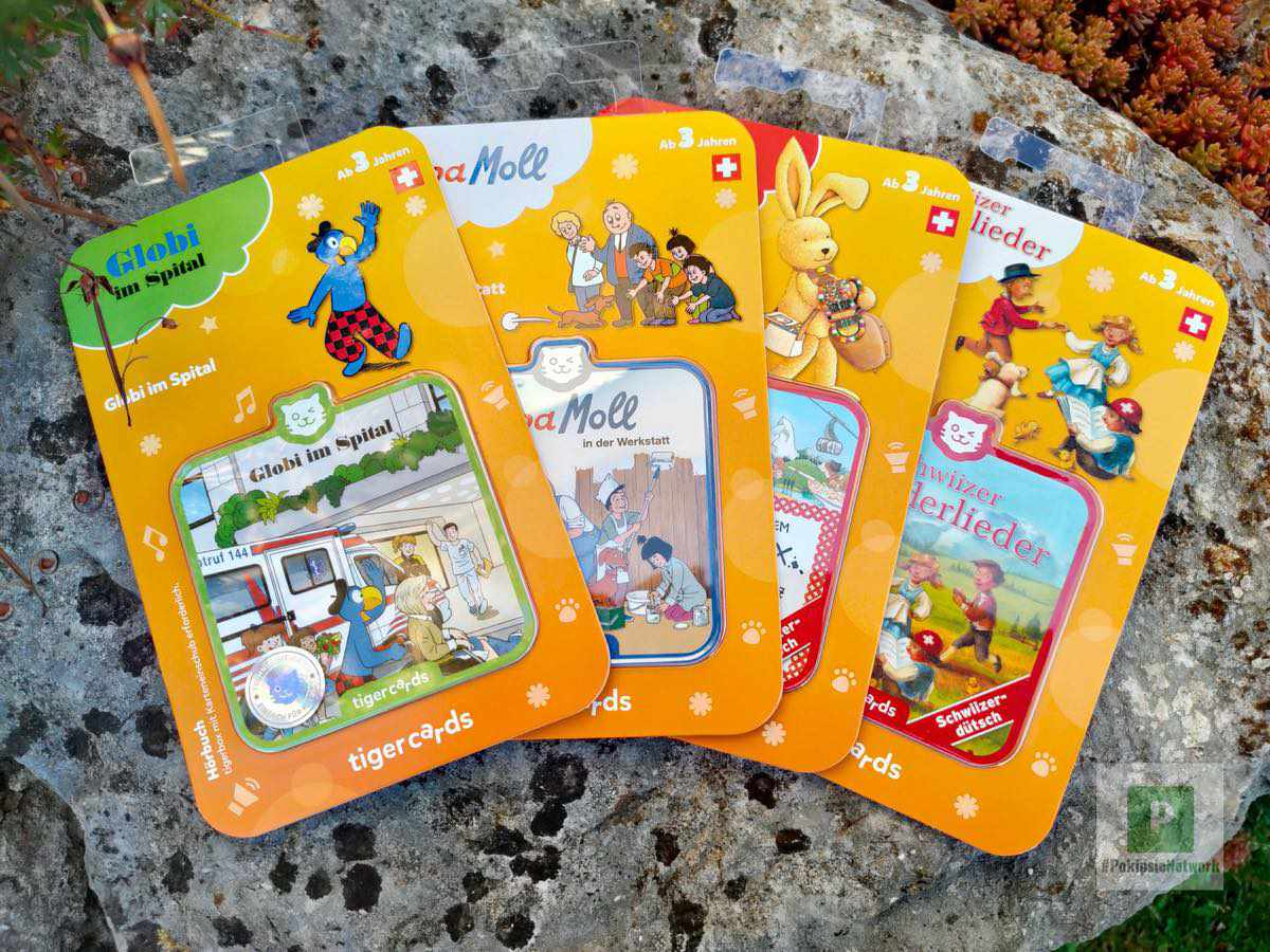 Neue Tigercards auf Schweizerdeutsch – Globi, Papa Moll, Felix und mehr